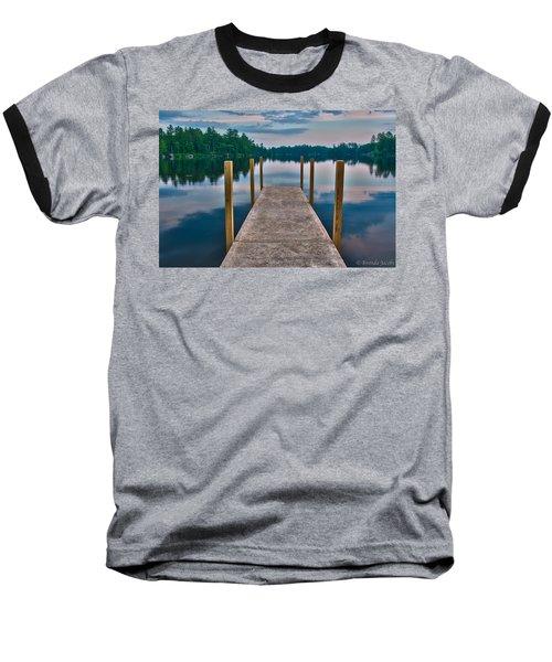 Lees Mills Dock Baseball T-Shirt by Brenda Jacobs