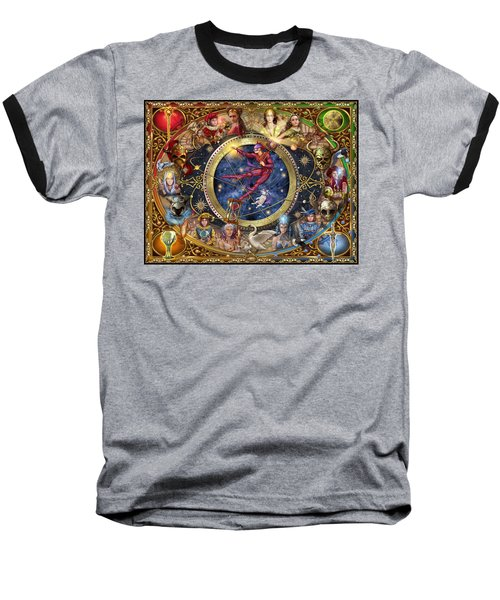 Legacy Of The Divine Tarot Baseball T-Shirt by Ciro Marchetti