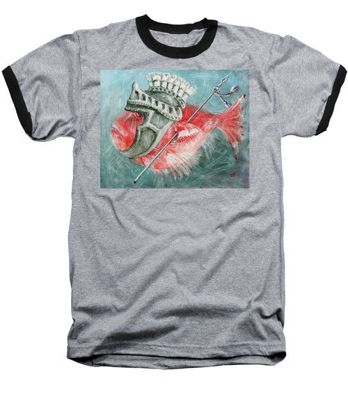 Legionnaire Fish Baseball T-Shirt by Marina Gnetetsky