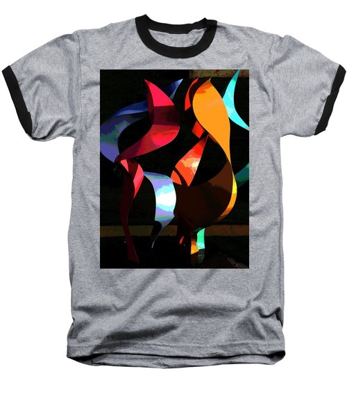Baseball T-Shirt featuring the photograph Lehigh University Cerrulli Sculpture by Jacqueline M Lewis