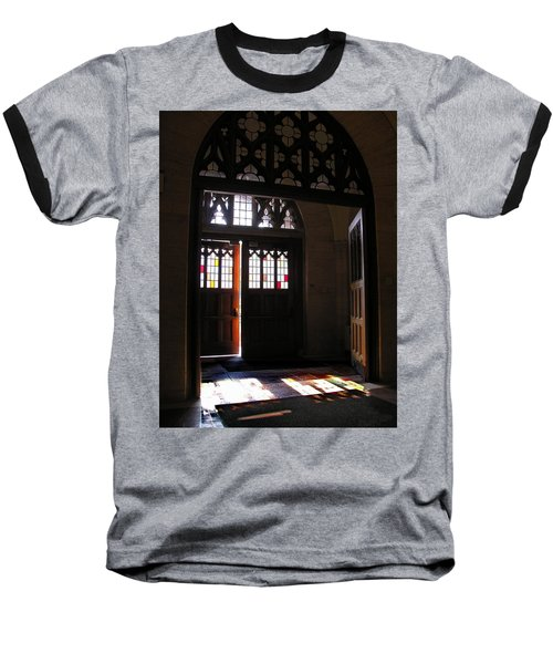 Lehigh University Linderman Library Entrance Baseball T-Shirt
