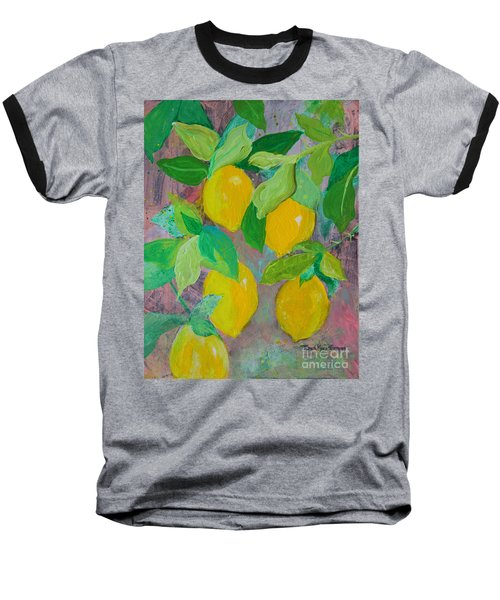 Lemons On Lemon Tree Baseball T-Shirt