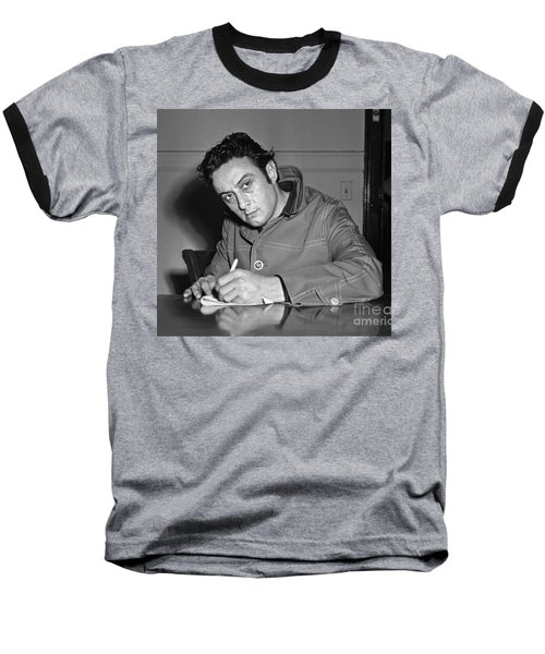 Baseball T-Shirt featuring the photograph Lenny Bruce 1963 by Martin Konopacki Restoration