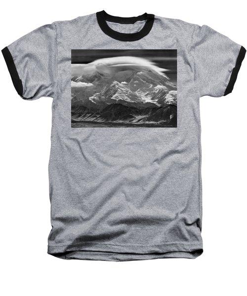 101366-lenticular Cloudcap Over Mt. Mckinley Baseball T-Shirt