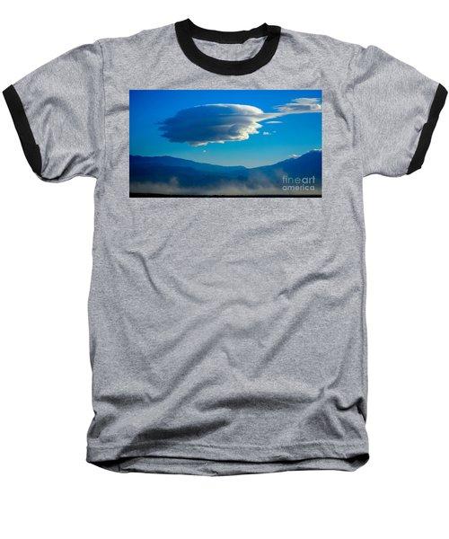 Lenticular Dust Storm Baseball T-Shirt by Angela J Wright