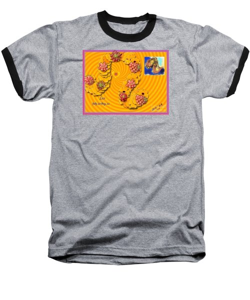 Baseball T-Shirt featuring the digital art Leo  by The Art of Alice Terrill