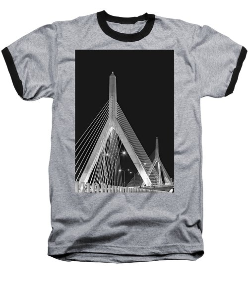 Leonard P. Zakim Bunker Hill Memorial Bridge Bw II Baseball T-Shirt