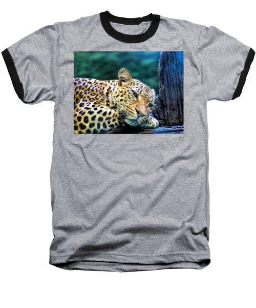 Baseball T-Shirt featuring the photograph Leopard 1 by Dawn Eshelman