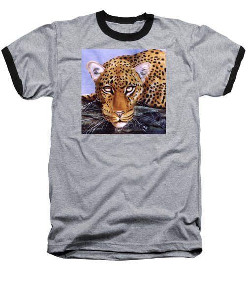 Leopard In A Tree Baseball T-Shirt by Thomas J Herring