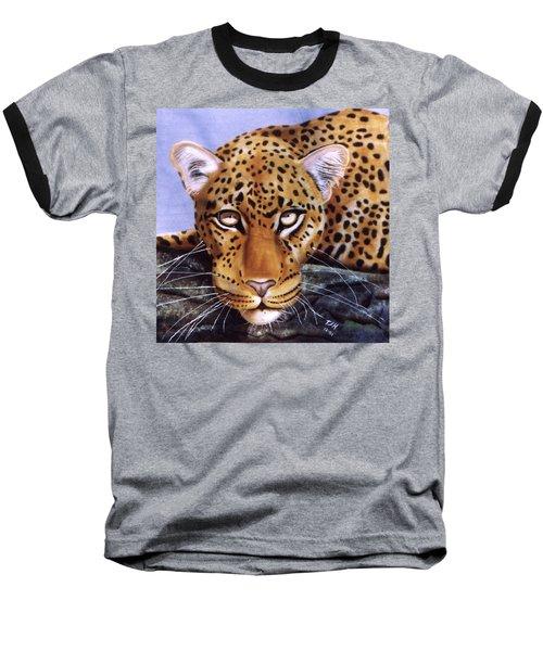 Leopard In A Tree Baseball T-Shirt