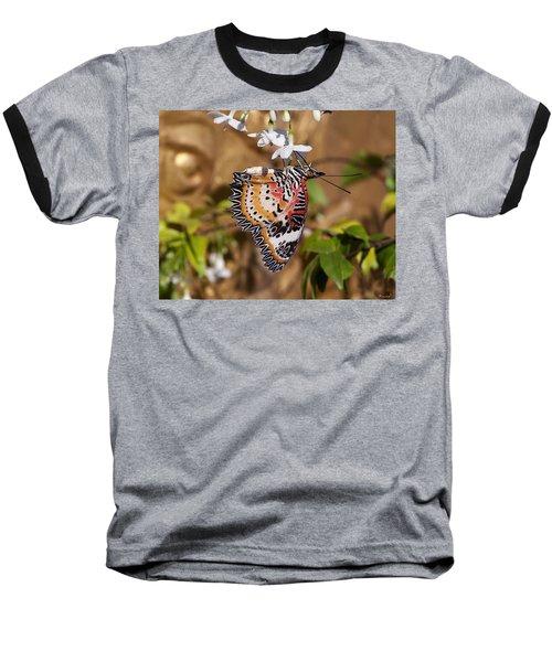 Leopard Lacewing Butterfly Dthu619 Baseball T-Shirt