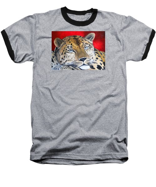 Leopardo Baseball T-Shirt by Angel Ortiz
