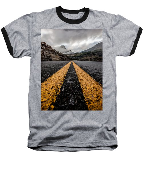 Less Traveled Baseball T-Shirt by Aaron Aldrich