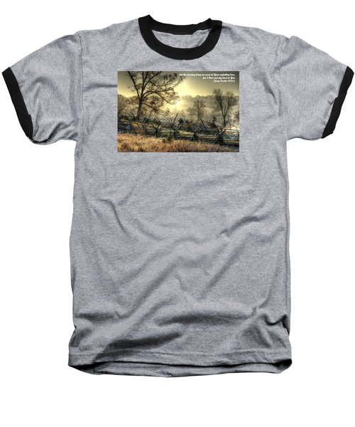 Let The Morning Bring Me Word Of Your Unfailing Love - Psalm 143.8 Baseball T-Shirt by Michael Mazaika