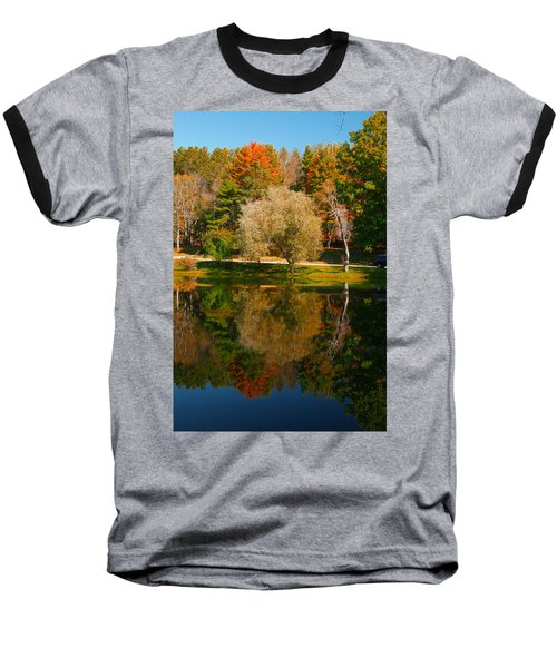 Letchworth Autumn Reflections Baseball T-Shirt by Richard Engelbrecht
