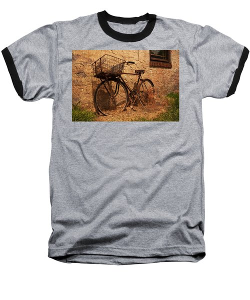 Let's Go Ride A Bike Baseball T-Shirt by Michael Porchik
