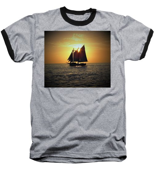 A Key West Sail At Sunset Baseball T-Shirt
