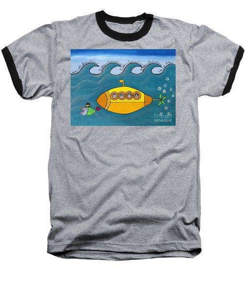 Lets Sing The Chorus Now - The Beatles Yellow Submarine Baseball T-Shirt