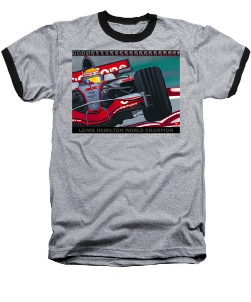 Lewis Hamilton F1 World Champion Pop Baseball T-Shirt