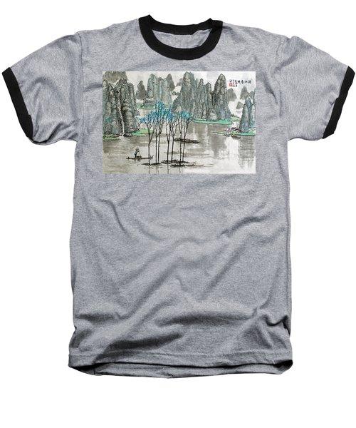 Baseball T-Shirt featuring the photograph Li River In Spring by Yufeng Wang
