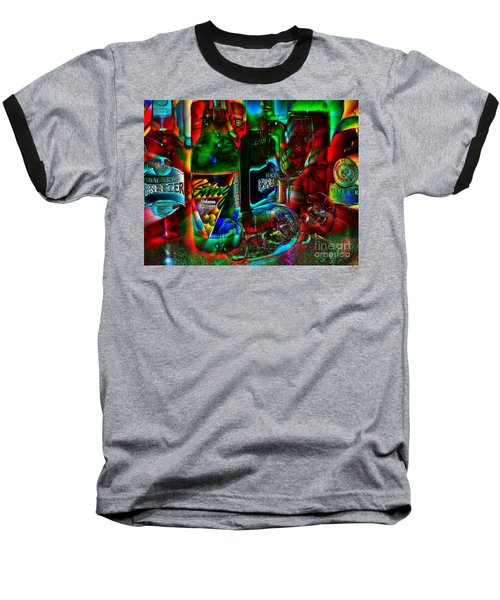 Baseball T-Shirt featuring the photograph Libations by Linda Bianic