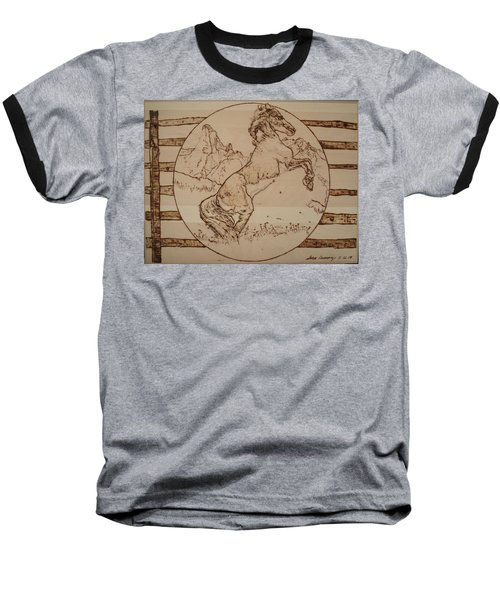 Wild Horse Baseball T-Shirt by Sean Connolly