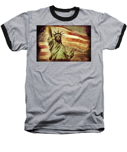 Declaration Of Independence Baseball T-Shirt