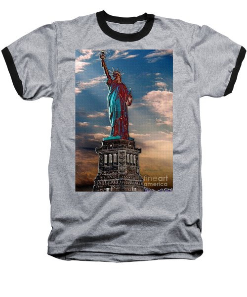 Baseball T-Shirt featuring the photograph Liberty For All by Luther Fine Art