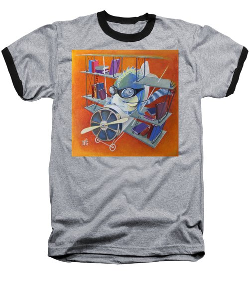 Librarian Pilot Baseball T-Shirt