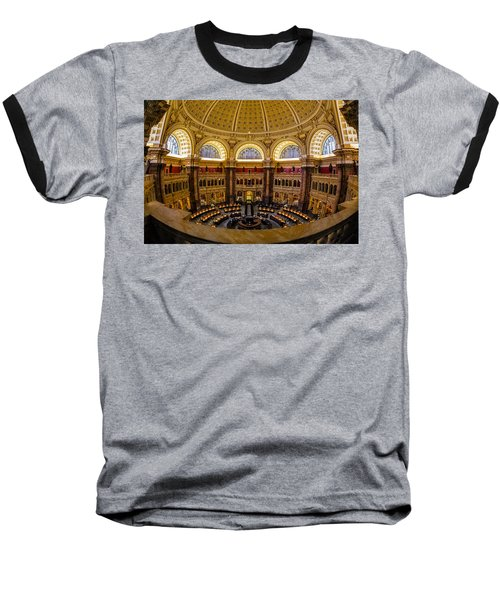 Library Of Congress Main Reading Room Baseball T-Shirt