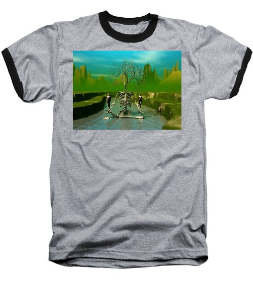 Life Death And The River Of Time Baseball T-Shirt by John Alexander