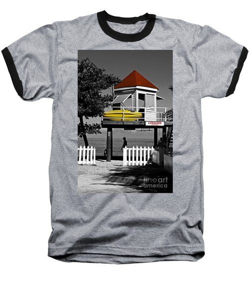 Life Guard Station Baseball T-Shirt