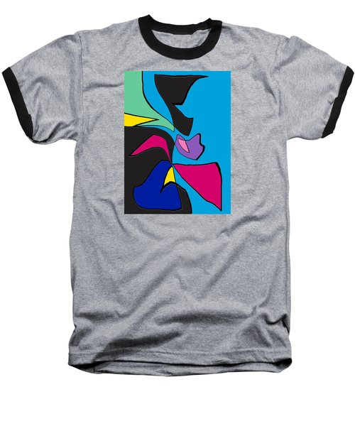 Original Abstract Art Painting Life Is Good By Rjfxx.  Baseball T-Shirt
