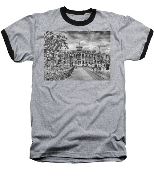 Baseball T-Shirt featuring the photograph Life On Main Street by Howard Salmon