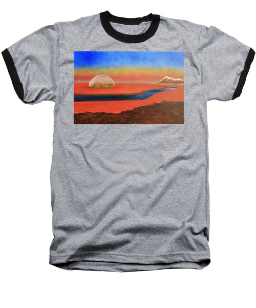 Baseball T-Shirt featuring the painting Life Will Find A Way by Tim Mullaney