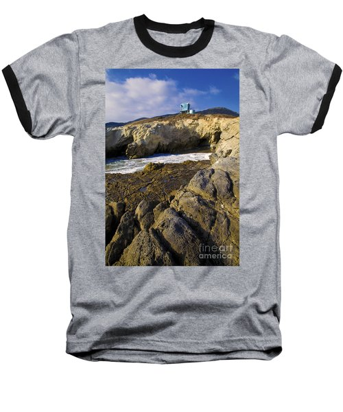 Lifeguard Tower On The Edge Of A Cliff Baseball T-Shirt
