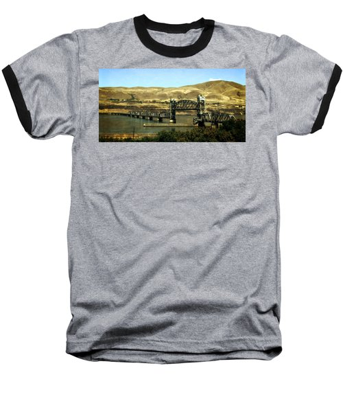 Lift Bridge Over The Columbia River Baseball T-Shirt