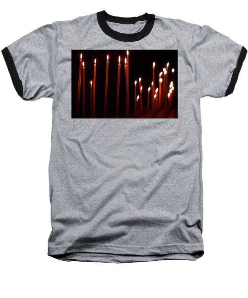 Light A Candle Say A Prayer Baseball T-Shirt