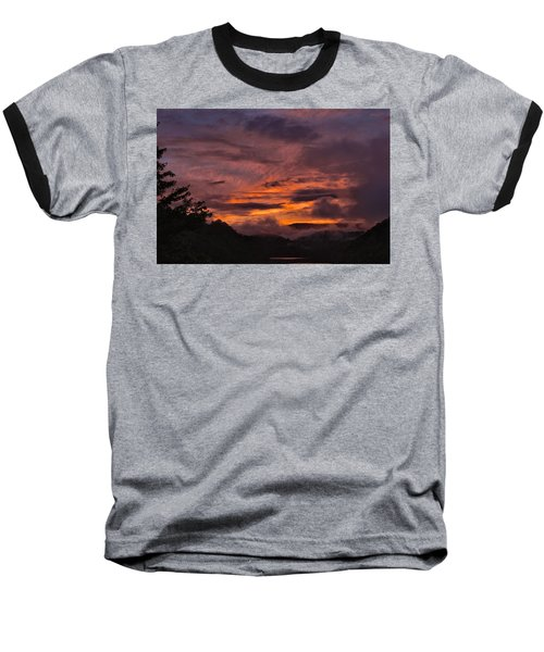 Light And Color Show Baseball T-Shirt by Tom Culver