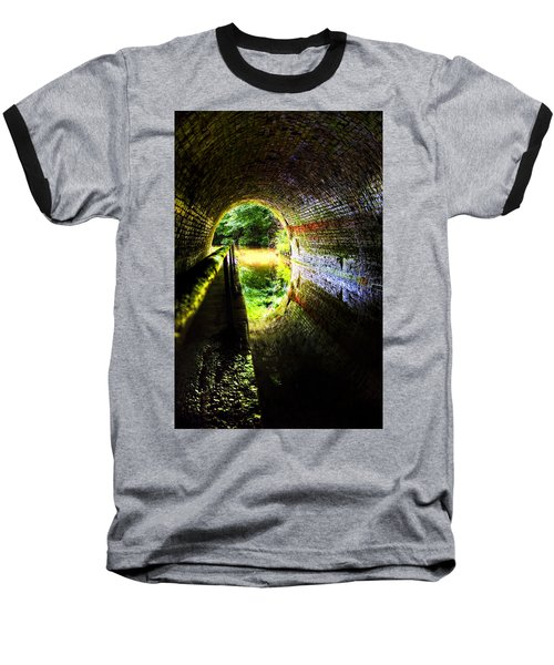 Baseball T-Shirt featuring the photograph Light At The End Of The Tunnel by Meirion Matthias