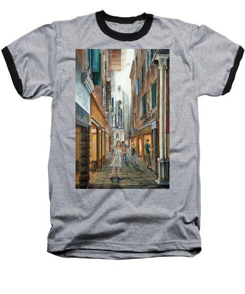 Light From San Salvador Merceria Del Capitello San Marco Venezia Baseball T-Shirt