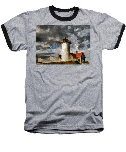 Light House In A Storm Baseball T-Shirt