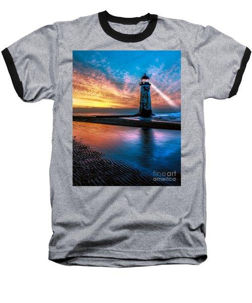 Light House Sunset Baseball T-Shirt
