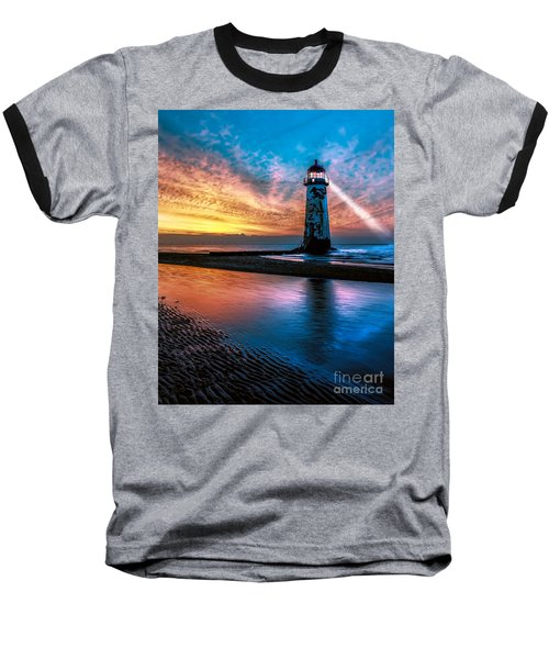 Light House Sunset Baseball T-Shirt