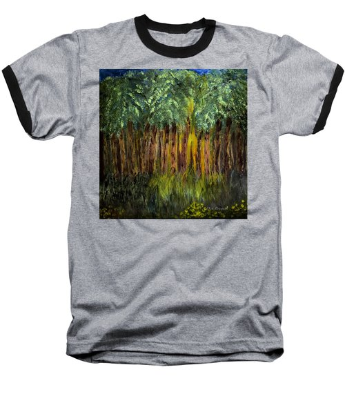 Light In The Forest Baseball T-Shirt by Dick Bourgault