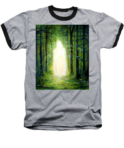 Light In The Garden Baseball T-Shirt by Heather Calderon