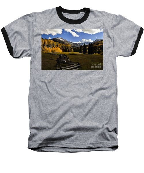 Light In The Valley Baseball T-Shirt by Steven Reed