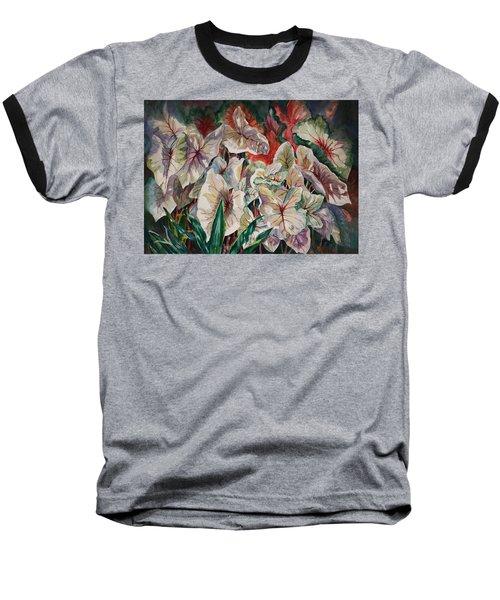 Light Play Caladiums Baseball T-Shirt