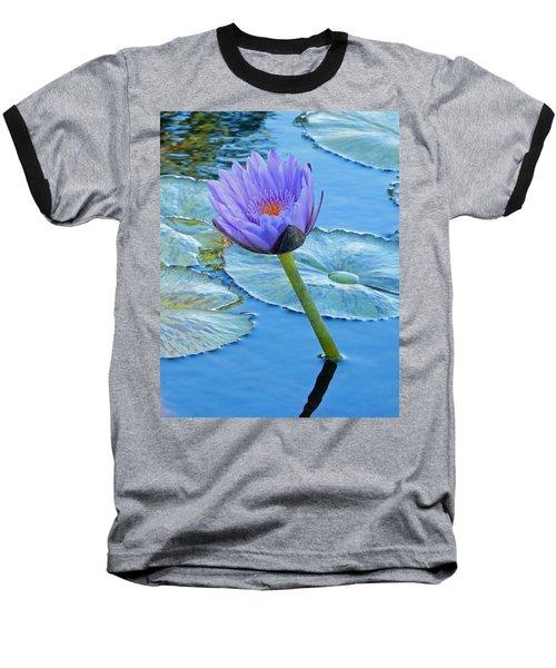 Light Purple Water Lily Baseball T-Shirt by Pamela Walton