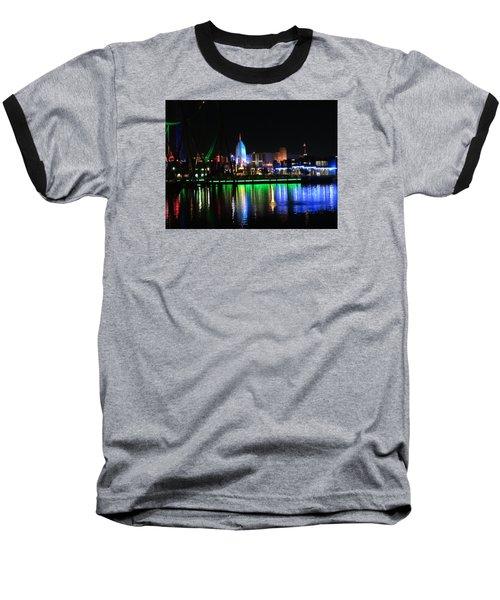 Light Reflections At Night Baseball T-Shirt